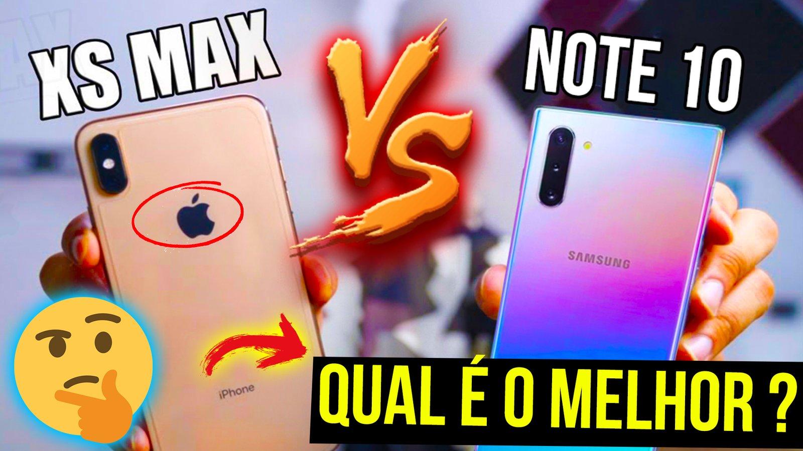 Galaxy NOTE 10 vs IPHONE XS MAX