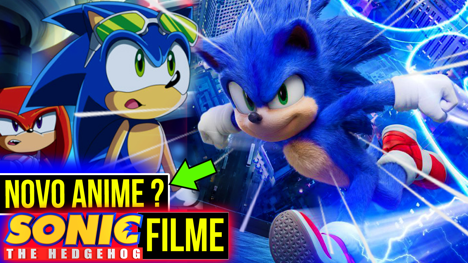 Sonic movie novo anime sonic x